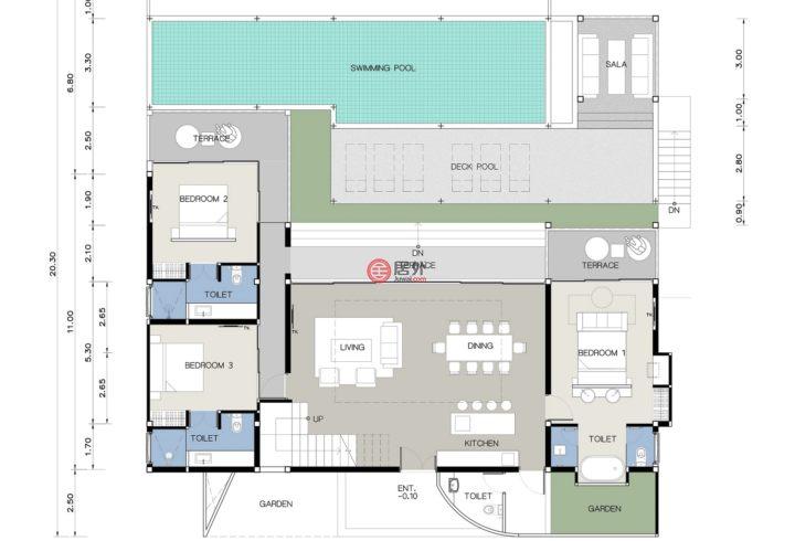 泰国的新建房产,88/88 Moo1, Lamai,编号38644235