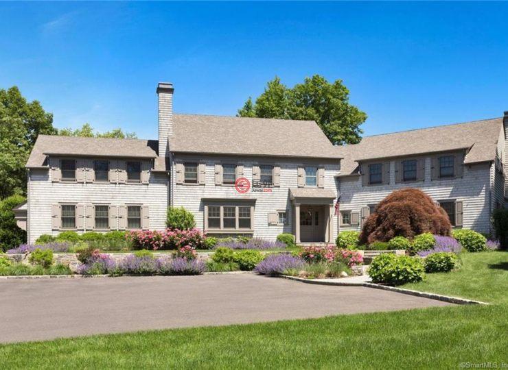 美国康涅狄格格林威治5卧5卫的别墅房产标语主江景图片