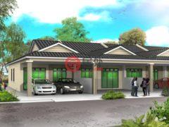 居外网在售马来西亚4卧3卫的新建房产总占地105平方米