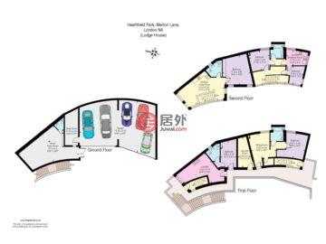 英国英格兰伦敦的房产,Heathfield House 6 Merton Lane,编号51125485