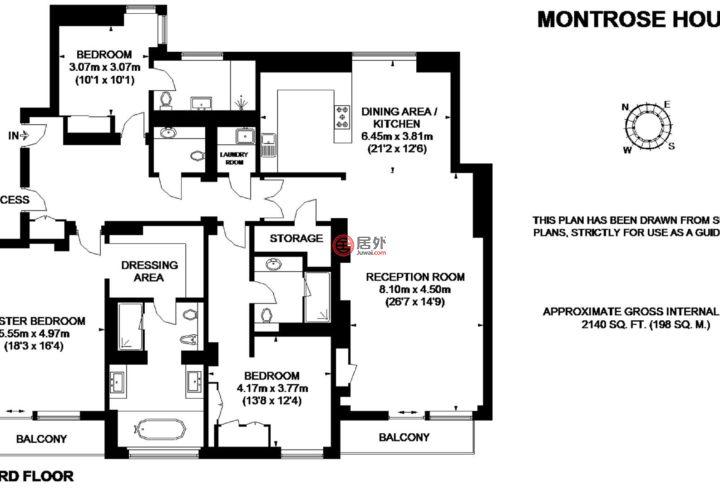 英国英格兰伦敦的公寓,Montrose Place,编号59276895