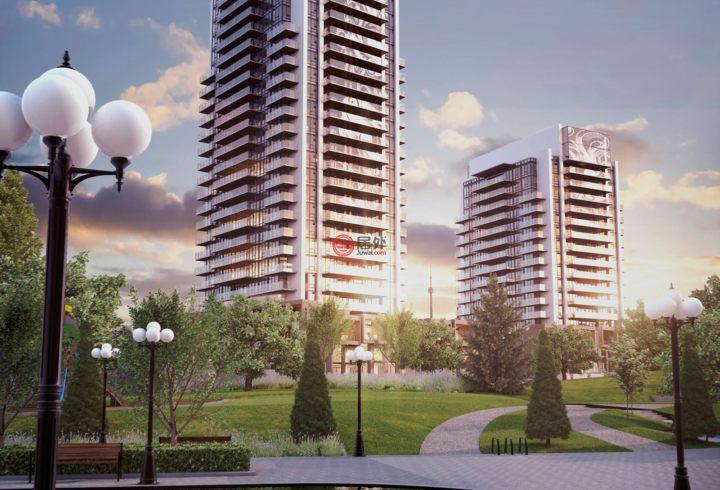 加拿大安大略省多伦多2卧1卫新房的房产