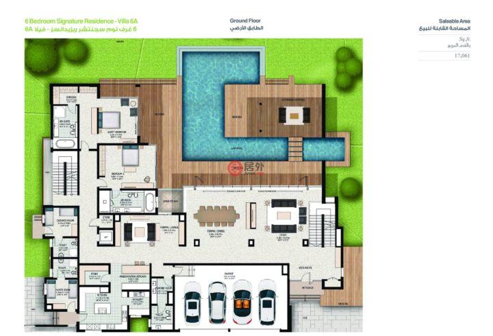 阿联酋迪拜迪拜的房产,Water Canal Villa At Sobha Hartland,编号47729539