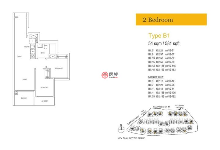 新加坡中星加坡新加坡的房产,120 Tampines Street 11,编号52709248
