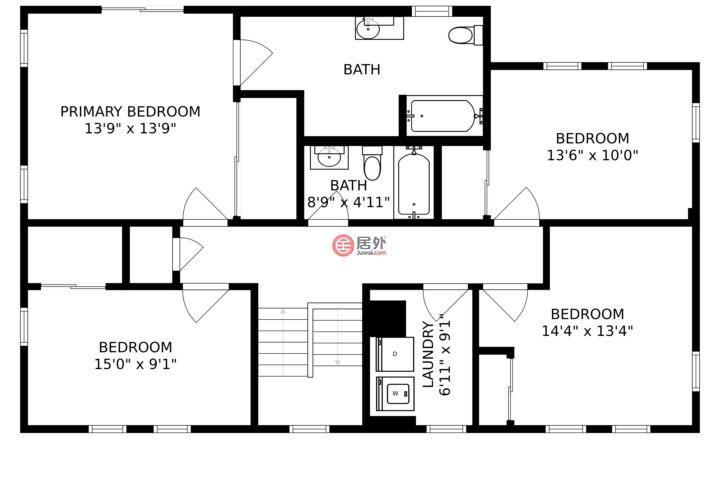 美国纽约州弗里波特的独栋别墅,604 Nassau Ave,编号59976356