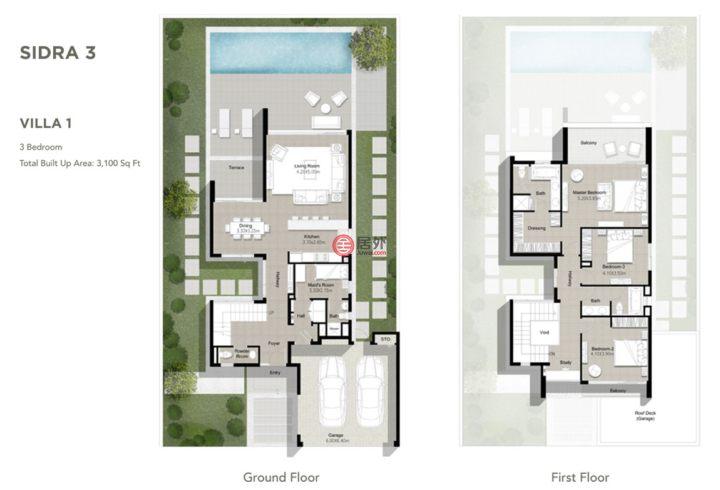 阿联酋迪拜迪拜的房产,独栋别墅,编号54986614