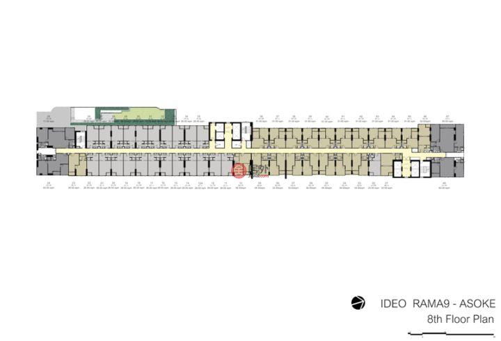 泰国Bangkok曼谷的房产,捡漏!曼谷双CBD交汇 拉玛九地铁口【铂金岛】,购房送家具家电包!,编号56956733
