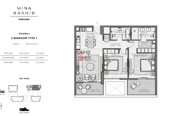 阿联酋迪拜迪拜的房产,拉希德港,编号54577942