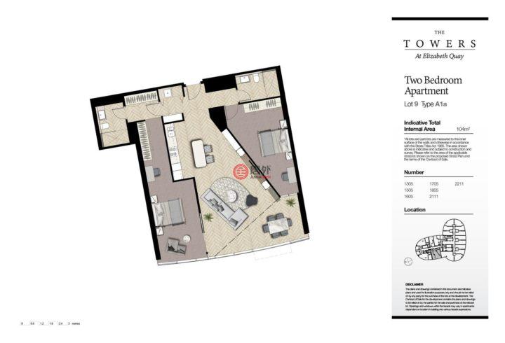 澳大利亚西澳大利亚州珀斯的房产,11 Barrack Square,编号53494678