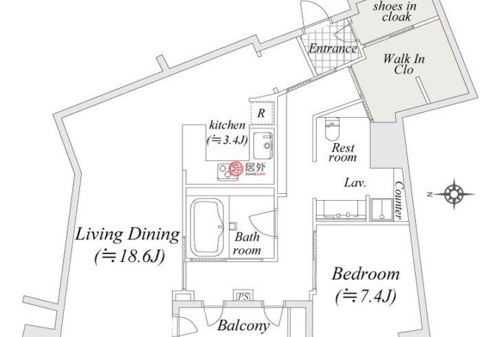 日本TokyoShinjuku的房产,编号48778926