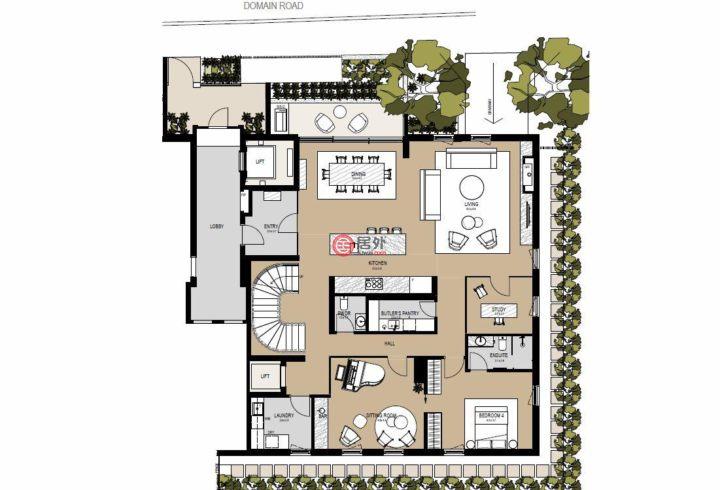澳大利亚的新建房产,279 Domain Road,编号35815335